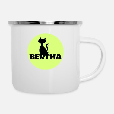 First Name Bertha name first name - Enamel Mug