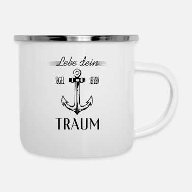 Black Live your dream - anchor black - Camper Mug