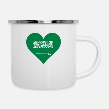 Shawarma A Heart For Saudi Arabia - Enamel Mug