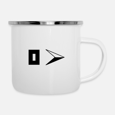 South East symbol compass black - Enamel Mug