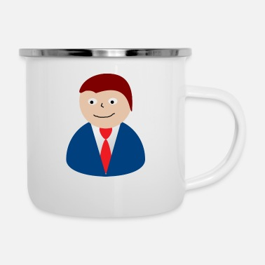 businessman geschaeftsmann business money71 - Enamel Mug