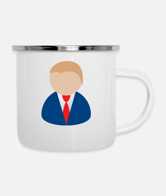 Dollar Mugs & Cups - businessman geschaeftsmann business money73 - Enamel Mug white