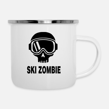 Mountains Ski zombie black - Camper Mug