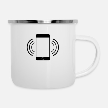 Mobile Phone Vibrating simple mobile phone smartphone calling - Camper Mug