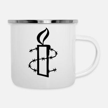 Barbed Wire barbed wire - Enamel Mug