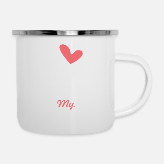 Love Mugs & Drinkware - I love my Girlfriend - Enamel Mug white