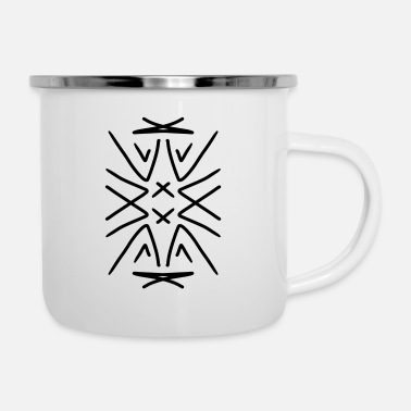 Drawing Drawing - Enamel Mug