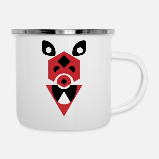 Red Mugs & Drinkware - Rayne Doggie - Enamel Mug white