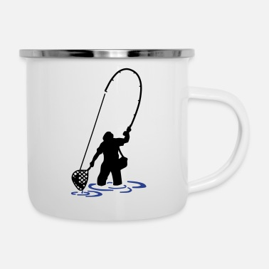 Carp Carp Hunter, carp, fish, ✔ - Enamel Mug