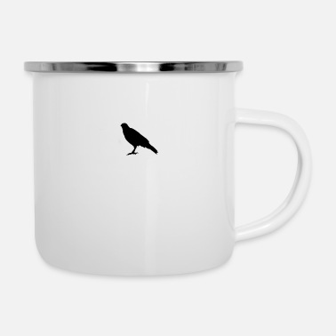 Plumage raven bird animal - Enamel Mug