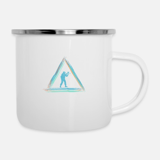Birthday Mugs & Drinkware - Paintball - Enamel Mug white