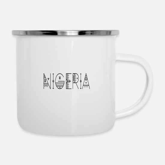 Love Mugs & Drinkware - Nigeria - Enamel Mug white
