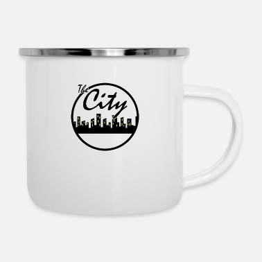 City The city - Enamel Mug