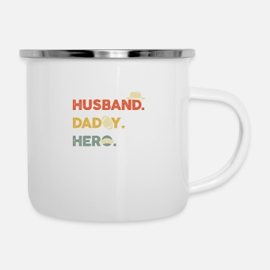 Husband Husband Daddy Hero Protector Father Men Papa Gift - Enamel Mug