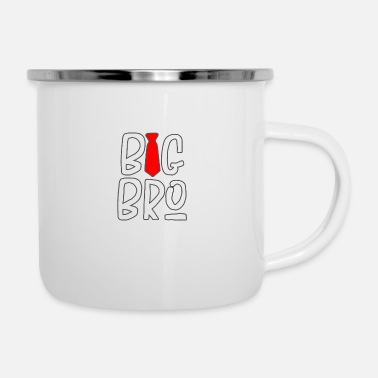 Necktie Big bro with necktie - Enamel Mug