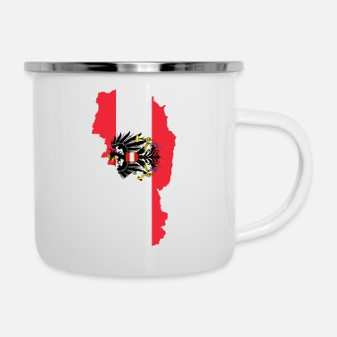 Coat Austria Flag Map - Enamel Mug