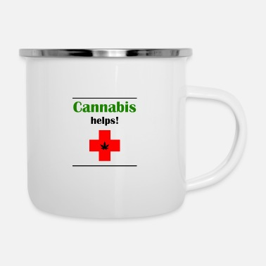 Hemp Cannabis helps! - Enamel Mug