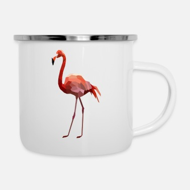 Plumage Flamingo Low-Poly-Style - Enamel Mug