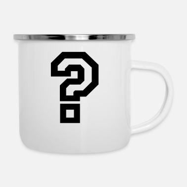Question Mark question mark - Enamel Mug