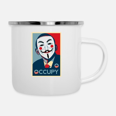 Occupy Anonymous occupy - Camper Mug