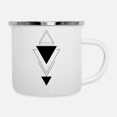 Rectangle Vertical triangle - Enamel Mug