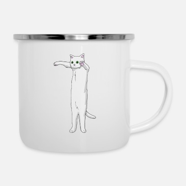 Long Long cat is long - Enamel Mug