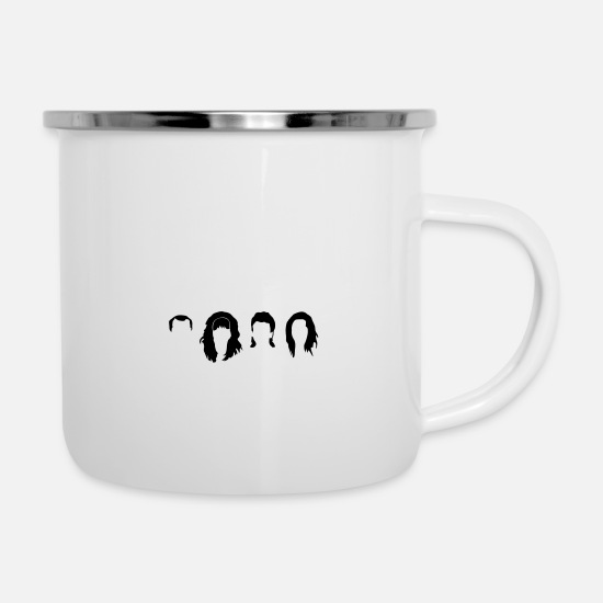 Bundy Mugs & Drinkware - bundy Haircuts - Enamel Mug white
