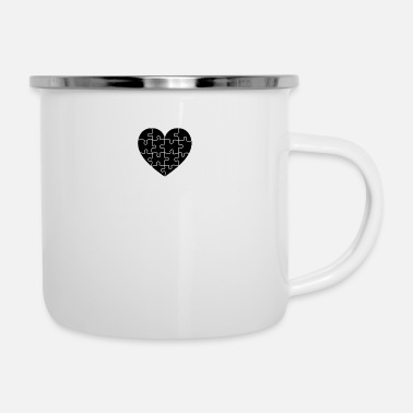 Puzzle Puzzled Heart - Camper Mug