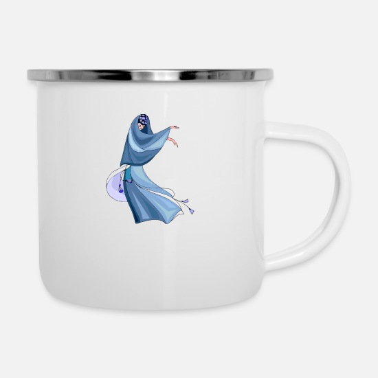 Dancing Mugs & Drinkware - Abstract Woman - Enamel Mug white