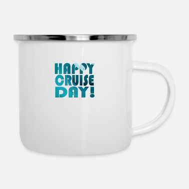 Under Water Cruise Ship product - Happy Day - Vacation Themed - Enamel Mug