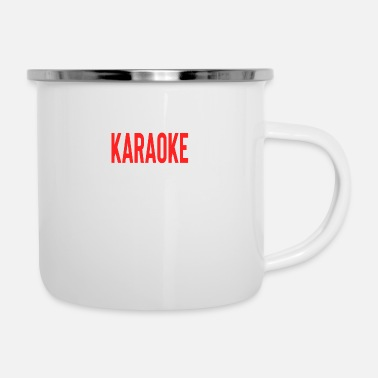 Son What Happens At Karaoke Stays At Karaoke - Enamel Mug