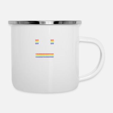 Fly Perfectly Queer Funny Gay Pride Parade LGBTQ Party - Enamel Mug