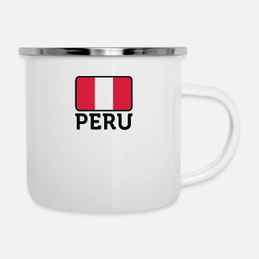 National Flag Of Peru - Enamel Mug