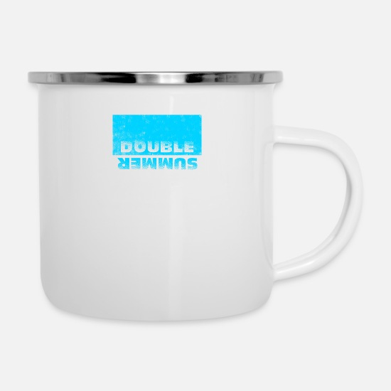 Summer Festival Mugs & Drinkware - Double Summer - Enamel Mug white