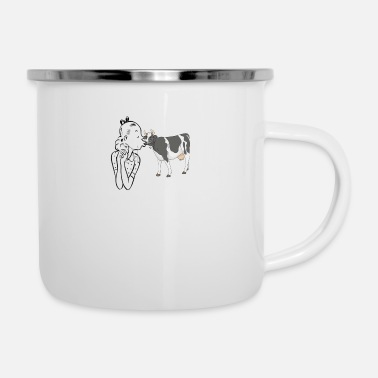 Love cow love - Enamel Mug