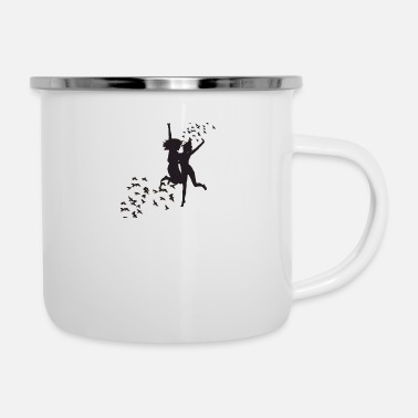 Black And White Black and white - Enamel Mug