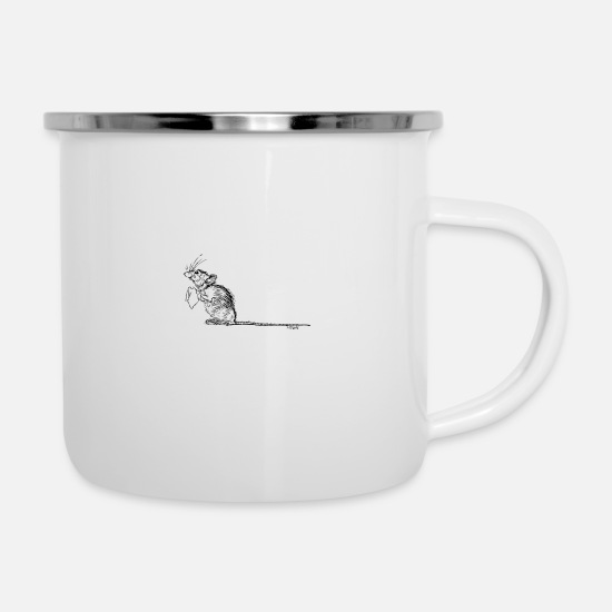 Tear  Mugs & Drinkware - Mouse Tears - Enamel Mug white