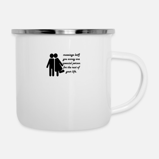 Marriage Mugs & Drinkware - Marriage - Enamel Mug white
