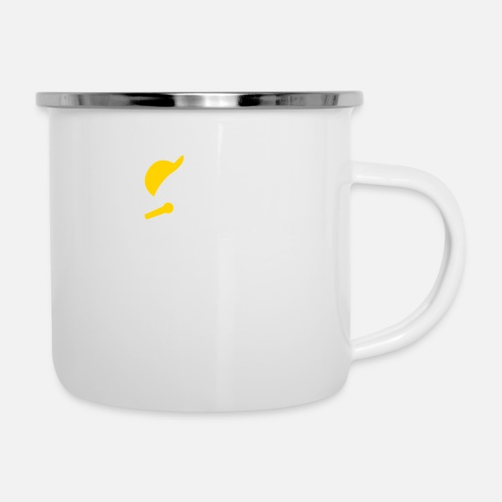 Hip Hop Mugs & Drinkware - Hiphop Rapper - Enamel Mug white