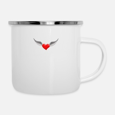 Heart With Wings heart with wings - Enamel Mug