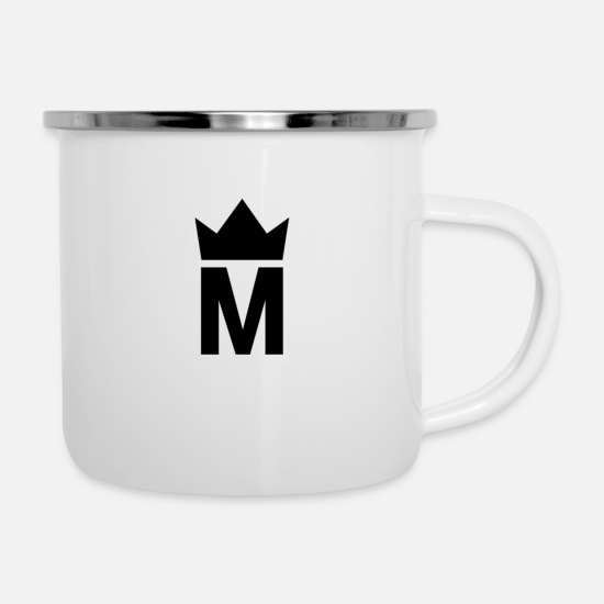 Logo Mugs & Drinkware - Simple Majesty Logo - Enamel Mug white