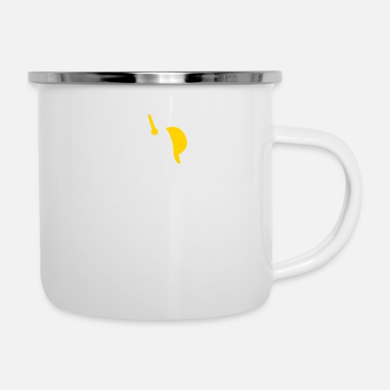 Rap Mugs & Drinkware - Hiphop Rapper - Enamel Mug white