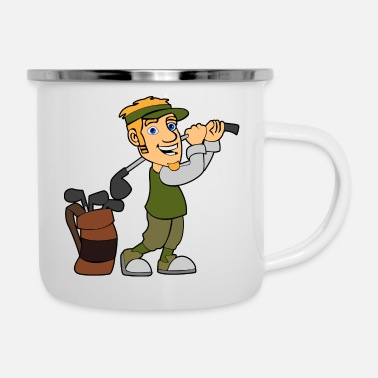 Sports golfer golf sport sports - Enamel Mug