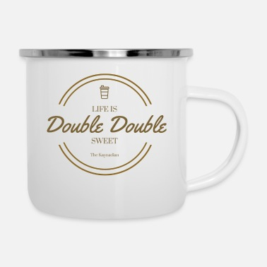 Double Life is Double Double Flag - Enamel Mug