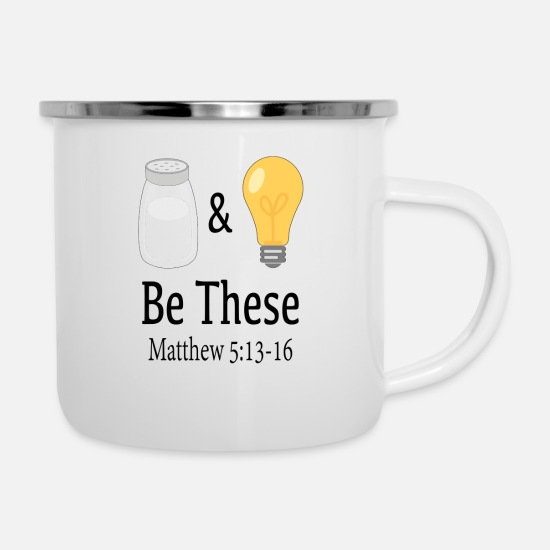 Salt Mugs & Drinkware - Salt & Light - Enamel Mug white