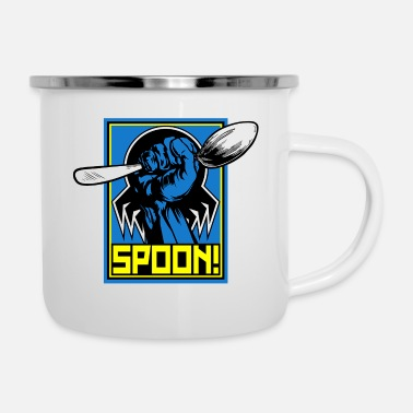 Tick the tick spoon - Enamel Mug