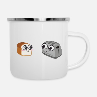 Hot Toast Toast loves Toaster - Enamel Mug