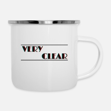 Blurry Very Clear Shirt | Check you audiance eyes! - Enamel Mug