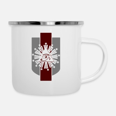 Column All Seeing Eye with Stars & Columns - Enamel Mug