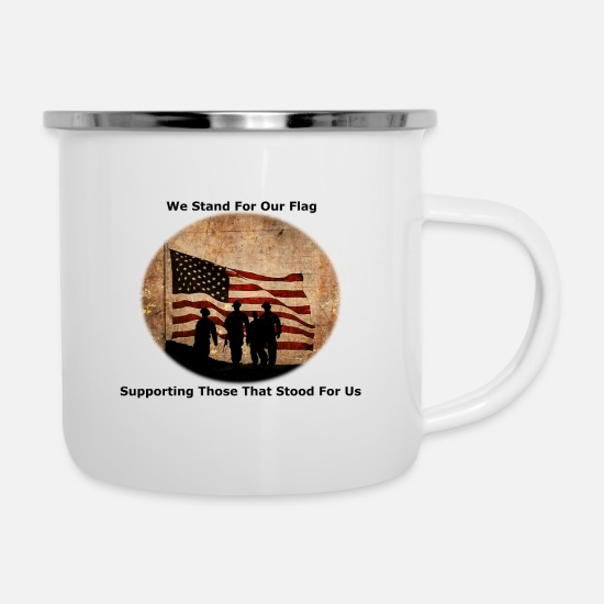 Stand Mugs & Drinkware - Stand for The Flag - Enamel Mug white